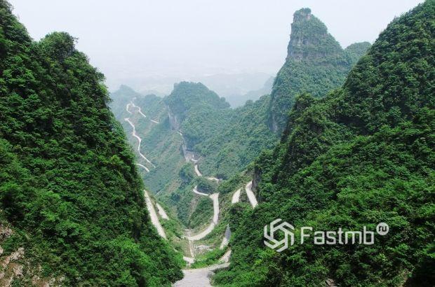 горная дорога в Китае