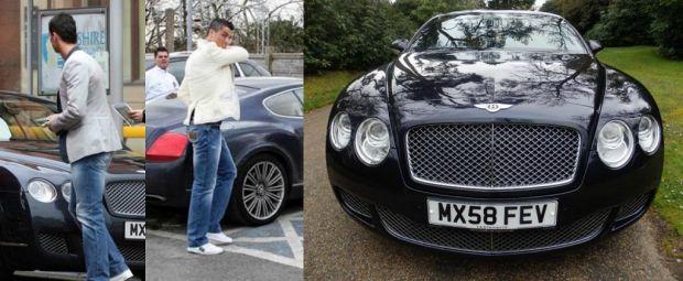 Автомобили Криштиану Роналду: Bentley Continental GT Speed