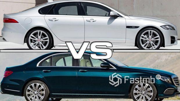 Jaguar XF против Mercedes Benz E-Class — что лучше?