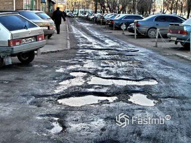Россия: плохие дороги