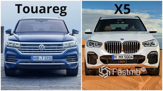 BMW X5 и VW Touareg