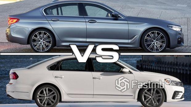 BMW 5-серии vs VW Passat
