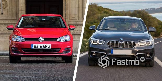 BMW 1-серии vs VW Golf