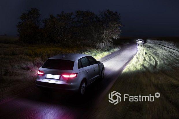 Ночью на дороге в Финляндии