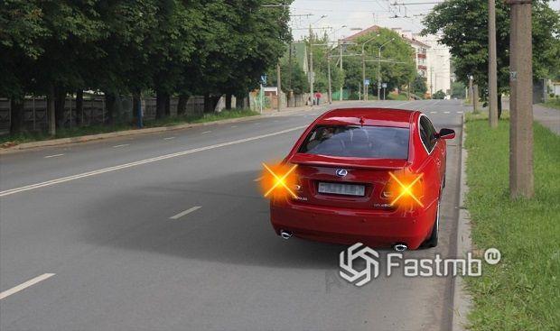 аварийный сигнал на дорогах Финляндии