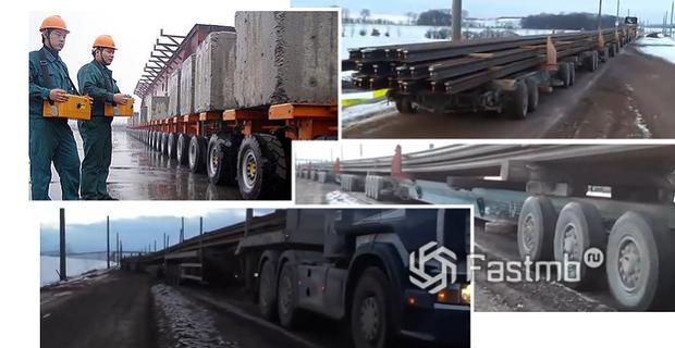 длинный китайский грузовик