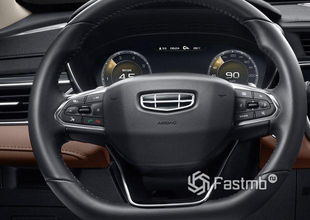 Рулевое колесо и цифровая панель приборов