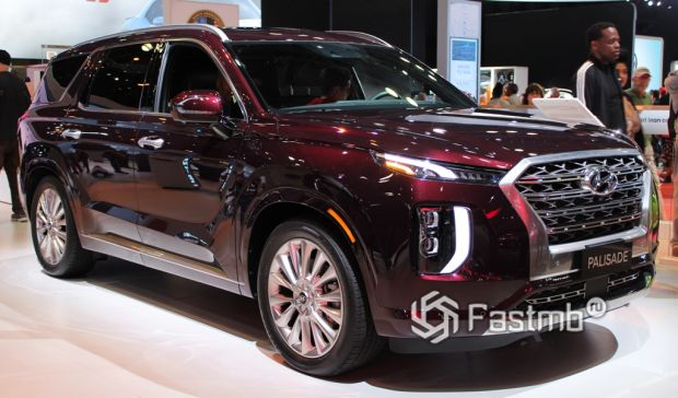 Бордовый Hyundai Palisade 2020