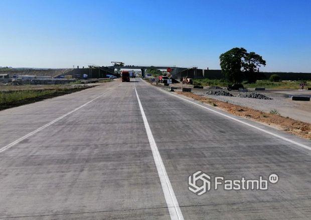 Новая бетоная дорога в Украине