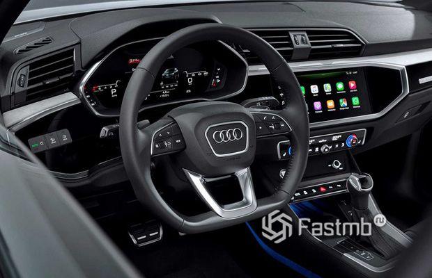 Передняя панель нового Audi Q3 Sportback