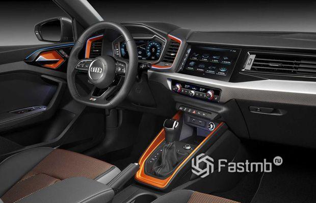 Интерьер кроссовера Audi A1
