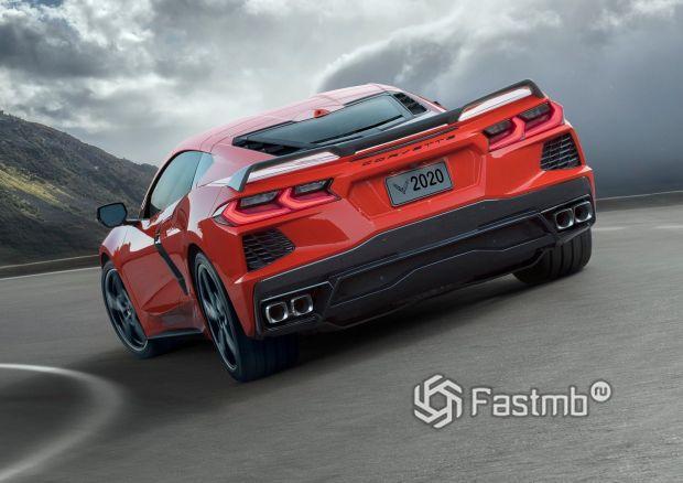 Chevrolet Corvette C8 Stingray 2020, вид сзади