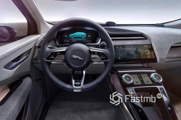 внутреннее оформление Jaguar I-Pace
