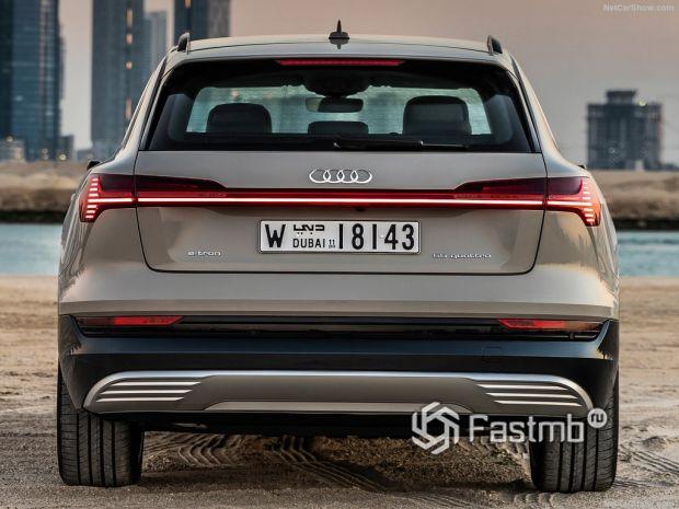 Audi e-Tron 2020, вид сзади
