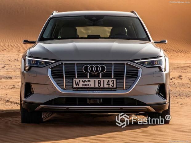 Audi e-Tron 2020, вид спереди
