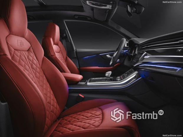 Audi SQ8 2020, передние сидения