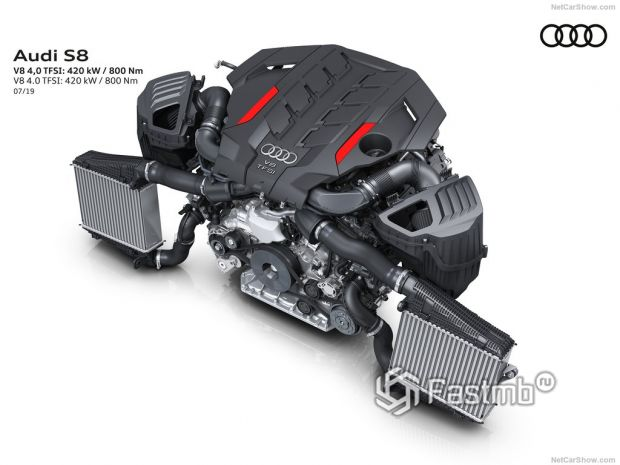 Audi S8 2020, двигатель