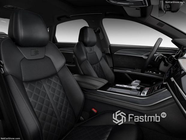 Audi S8 2020, передние сидения