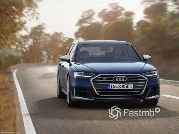 Audi S8 2020, вид спереди