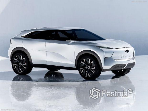 Infiniti QX Inspiration Concept 2019, вид спереди и сбоку справа