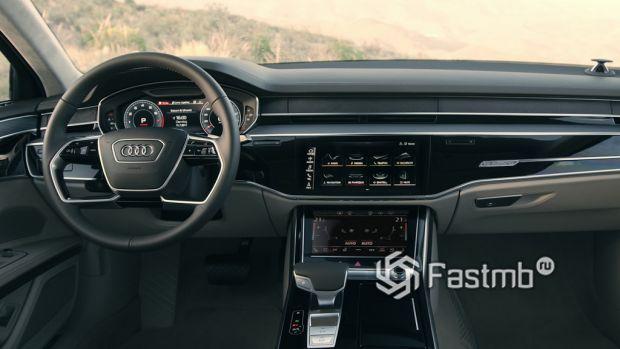 Audi A8, панель управления