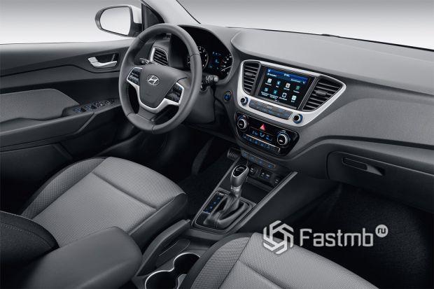 Внутреннее оформление Hyundai Solaris