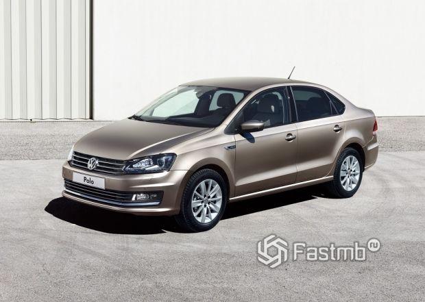внешний вид VW Polo Sedan