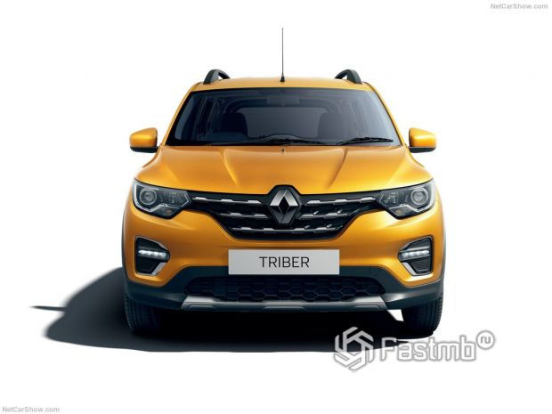Renault Triber 2020, вид спереди