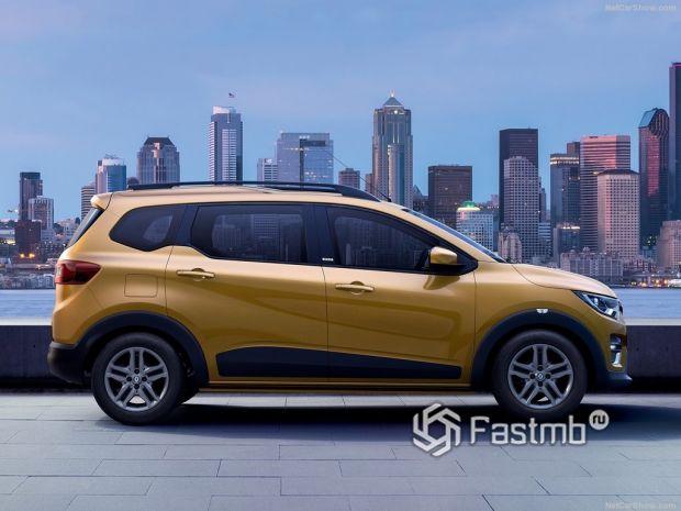 Renault Triber 2020, вид сбоку справа