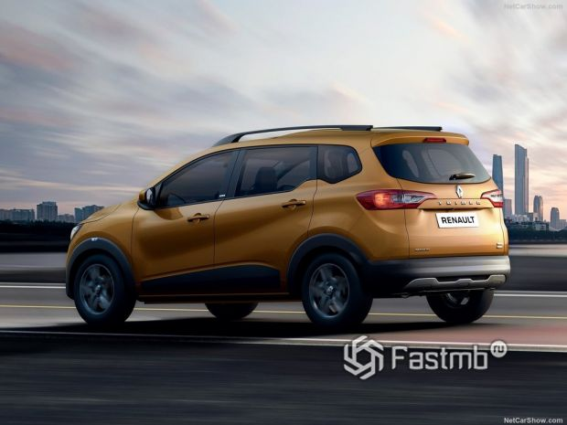 Renault Triber 2020, вид сзади и сбоку слева