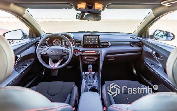 Внутреннее оформление Hyundai Veloster