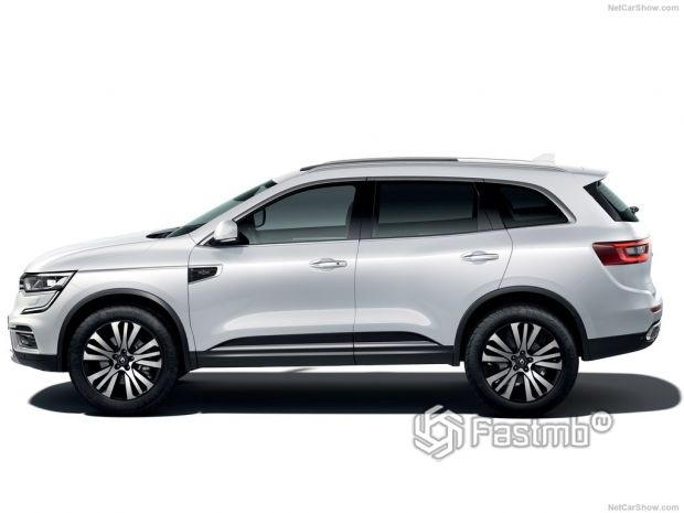 Renault Koleos 2020, вид сбоку слева