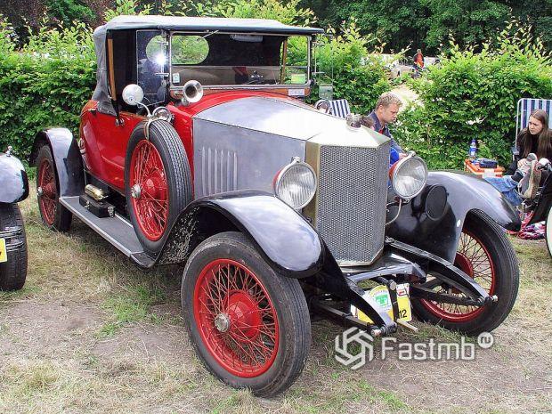 автомобиль производства Бельгии начала ХХ века