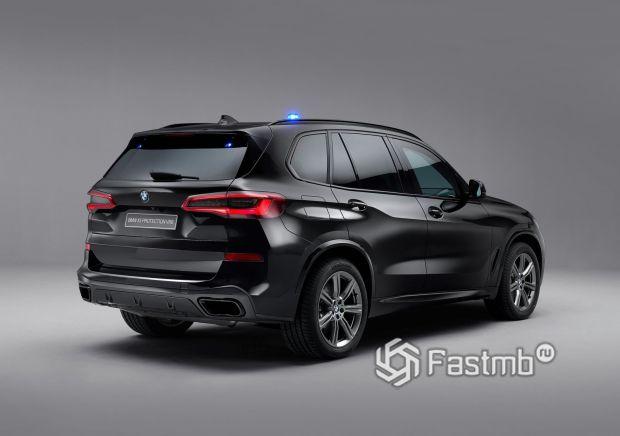 BMW X5 Protection VR6, вид сзади