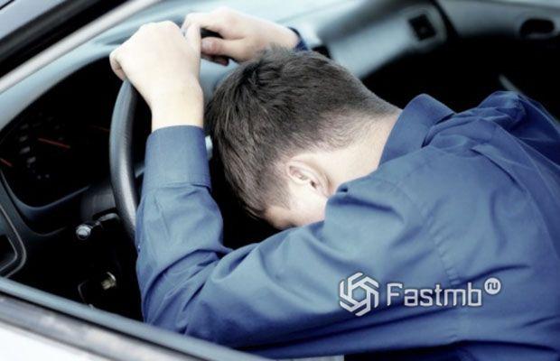 Водитель уснул за рулем