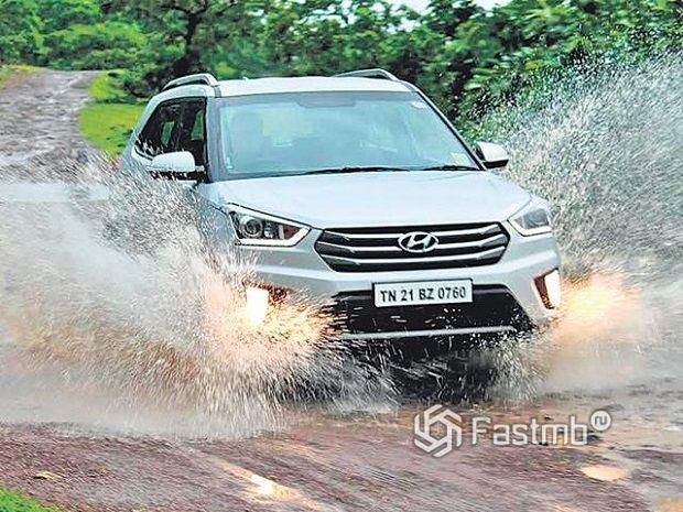 Hyundai Creta в движении