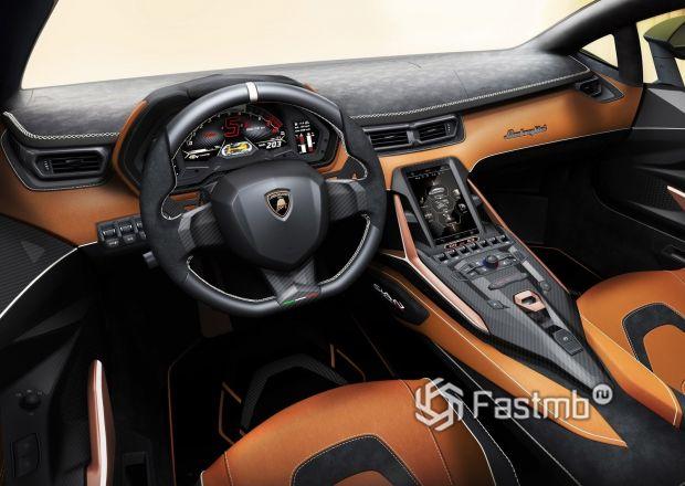 Интерьер Lamborghini Sian 2020
