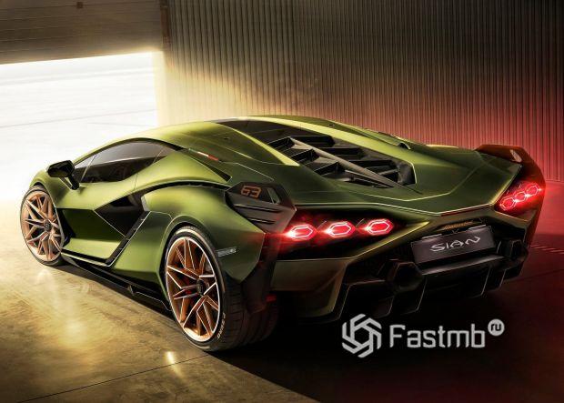 Заядняя часть Lamborghini Sian