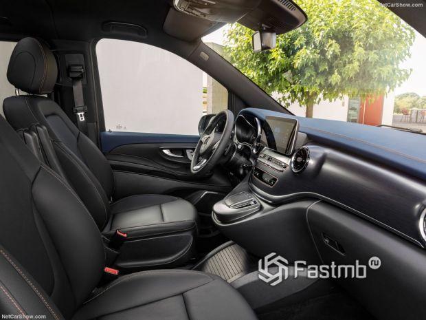 Mercedes-Benz EQV 2020, передние сидения