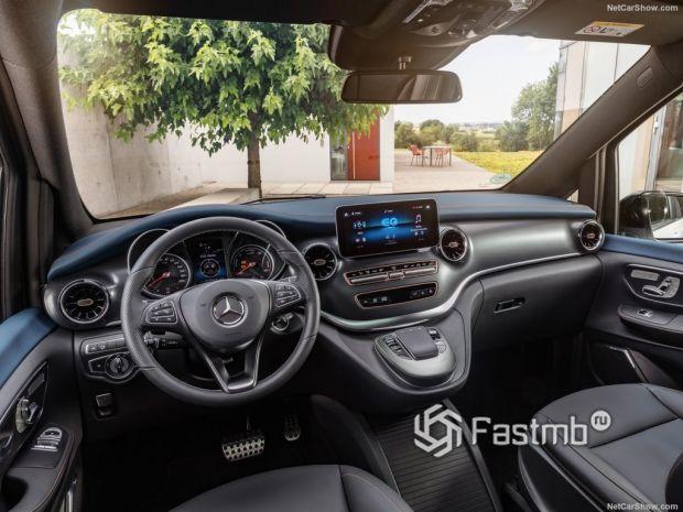 Mercedes-Benz EQV 2020, руль и панель управления
