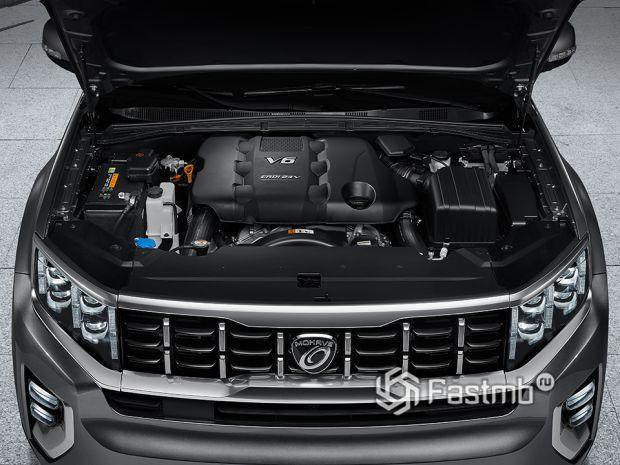 Дизельный двигатель нового Kia Mohave 2020
