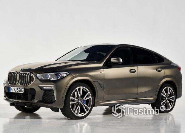 BMW X6 M50i 2020, вид сбоку