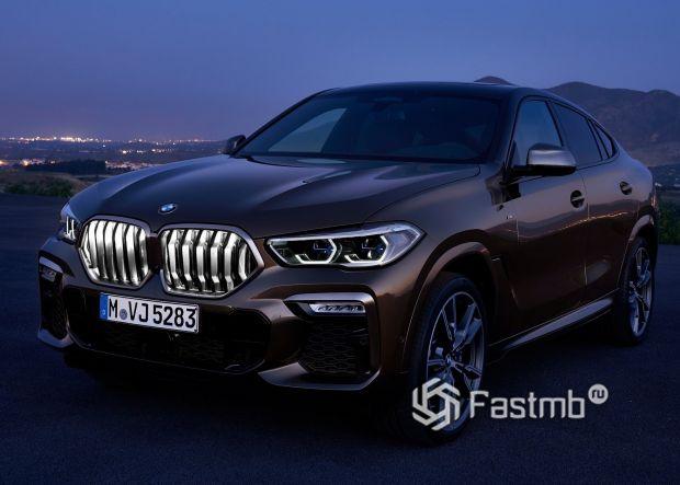 Светодиодная подсветка решетки BMW X6 M50i 2020
