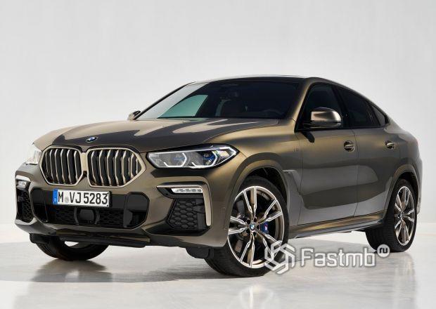 Передняя часть BMW X6 M50i 2020