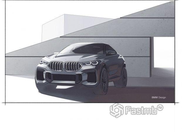 Первый дизайнерские варианты BMW X6 2020