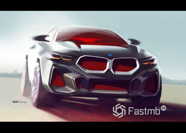 Дизайнерские зарисовки БМВ Х6 2020