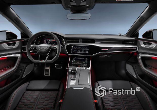 Интерьер обновленной Audi RS7 Sportback 2020