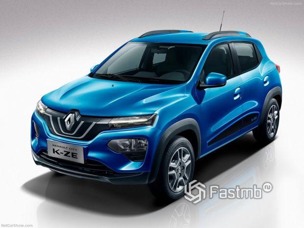 Renault City K-ZE 2020, вид спереди и сбоку слева