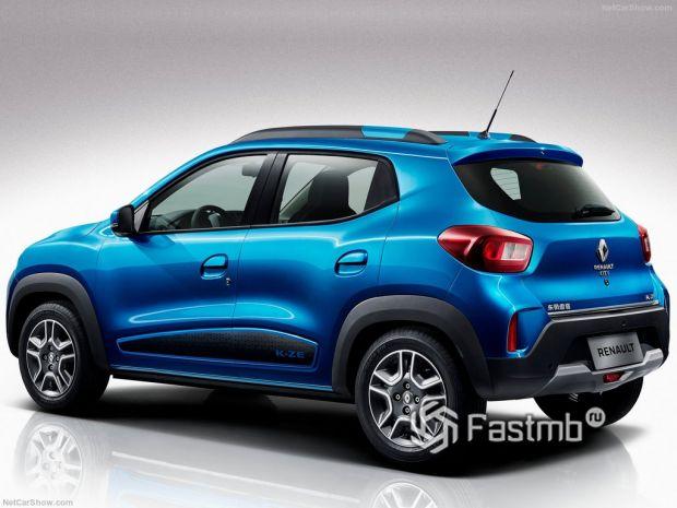 Renault City K-ZE 2020, вид сзади и сбоку слева