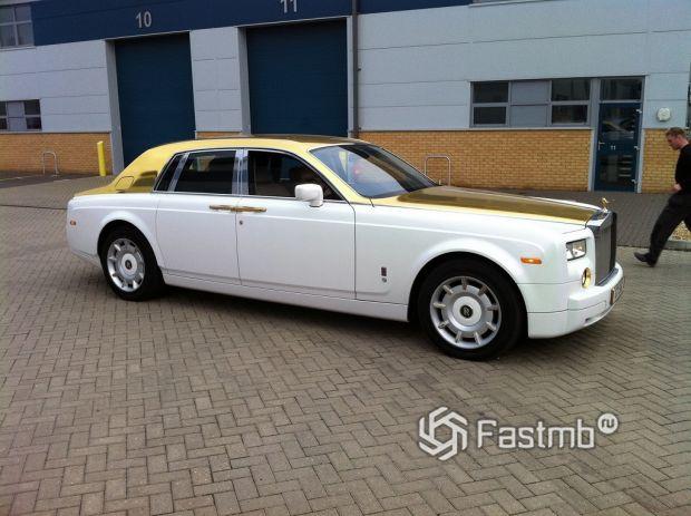 Rolls Royce Phantom Solid gold